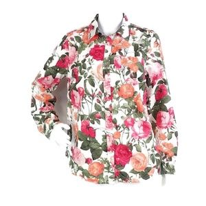 Talbots Floral Button Down Blouse I14